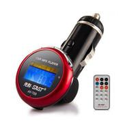 先科 AY-T68 车载MP3音乐播放器 4G 小巧可爱汽车用MP3 送遥控 红色