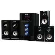 先科 组合音箱SA-9018 模拟5.1声道多媒体低音炮台式电脑家庭影院木质音响 黑色标配