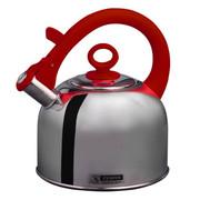 斑马 泰国原装进口Zebra高级不锈钢时尚琴音不锈钢水壶3.5L 113491 红色