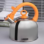 斑马 泰国原装进口Zebra高级不锈钢时尚琴音不锈钢水壶3.5L 113491 橙色
