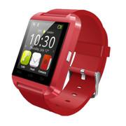 斯波兰 U8触屏智能蓝牙手表 智能手镯 腕表 运动计划海拔仪 免提通话 遥控拍照 智能防丢 红色