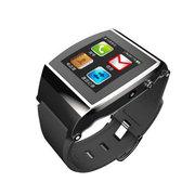 斯波兰 UPro智能手表 独立通讯 计步器 智能佩戴 蓝牙手表 可插手机卡使用 拍照防丢 炫酷黑