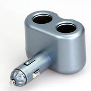 奥舒尔 ozio汽车点烟器插座EF22一拖二带usb接口 车载电源分配器