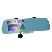 黑蝙蝠 F61 五合一后视镜行车记录仪导航一体机双镜头高清夜视5英寸屏安卓GPS内置8G卡 双镜头旗舰版标配
