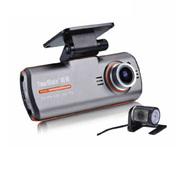 途美 G7汽车行车记录仪双镜头超广角高清1080P 双镜头黑色-送降压线 标配+16G内存卡