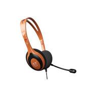 旋燕 XY-666MV 头戴式电脑耳机耳麦 橙黑色