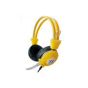 旋燕 XY-110MV游戏耳机 电脑耳机 时尚耳机抗暴力 PU线耳麦 纯音乐耳壳调音耳麦(黄色)