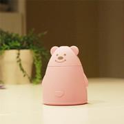伊品堂 加湿器 百变小熊 超静音迷你USB (送女友生日礼物 办公室) 粉色