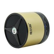 维尔晶 2代车载无线蓝牙音箱插卡音响 重低音低音炮免提通话 土豪金