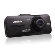 安尼泰科 AT900 双镜头行车记录仪 摄像高清1080P超大广角停车监控 黑色无卡