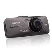 安尼泰科 AT900 双镜头行车记录仪 摄像高清1080P超大广角停车监控 黑色16G卡