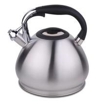 HUANXIPO 304不锈钢烧水壶4.5L大容量加厚复底彩色煮水壶鸣笛燃气电磁炉通用 不锈钢色 4.5升水壶产品图片主图