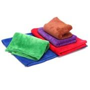 车之吻 5条装超细纤维擦车毛巾 (磨绒加厚型60CM*40CM)超强去污 红色/绿色/蓝色/咖色/紫色