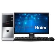 海尔 极光D1-Z136 台式电脑(赛扬双核1037U 2G 500G DVD 键鼠 USB3.0)