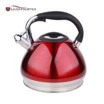 HUANXIPO 304不锈钢烧水壶4.5L大容量加厚复底彩色煮水壶鸣笛燃气电磁炉通用 4.5升不锈钢本色水壶产品图片主图