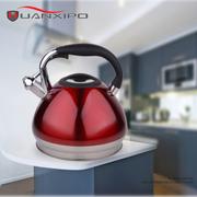 HUANXIPO 304不锈钢水壶烧水壶鸣笛煤气电磁炉通用响水壶 红色