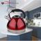 HUANXIPO 304不锈钢水壶烧水壶鸣笛煤气电磁炉通用响水壶 红色产品图片1