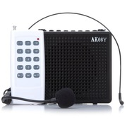 爱课(AKER) AK66Y 无线遥控液晶显示数字选曲FM收音录音便携腰挂喊话器小蜜蜂扩音(黑色)