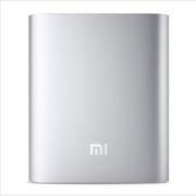 小米 移动电源 铝合金外壳苹果三星手机通用充电宝 薄10400mAh毫安 银色
