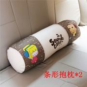 张小盒 靠垫靠枕ZXH汽车内饰精品音乐系列 条形抱枕*2
