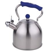 HUANXIPO 加厚304不锈钢烧水壶3L升复底鸣笛热水壶 煮水壶 德国工艺电磁炉通用 蓝色手柄