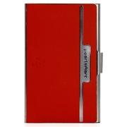 爱贝尔 智能名片夹 NFC电子名片 高档便携商务真皮名片盒(红色)