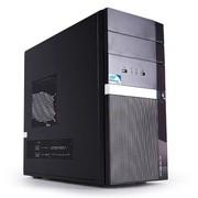 清华同方 精锐X200H 台式主机(双核G1820 2G 500G 核芯显卡 前置USB3.0 DVD 有线键鼠)黑色