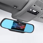 音信 D650 安卓智能后视镜行车记录仪高清广角夜视  双镜头 行车记录仪电子狗一体机 双镜头时尚版+32G卡