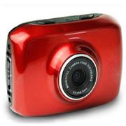 apphome 720P高清户外运动迷你摄像机车载行车记录仪 红色