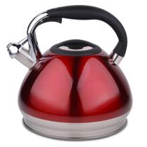 HUANXIPO 加厚304不锈钢复底烧水壶4.5升大容量煮水壶 水开鸣笛电磁炉通用 深红色产品图片主图