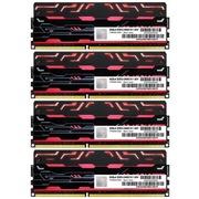 宇帷 BLITZ系列 火焰红 DDR3 2400 32GB(8G×4条)台式机内存(AVD3U24001008G-4BZ1R)