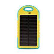 华沃 太阳能移动电源手机通用充电宝 小巧随身充电器 户外充电宝 防水防摔防尘充电宝 黄蓝