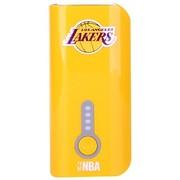 NBA L-52 5200毫安移动电源 手机通用型充电宝 便携小巧 黄色(湖人队)