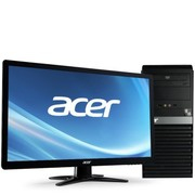宏碁 SQN6120 台式电脑 (AMD A8-5500四核 4G 500G DVD USB3.0 有线键鼠 多种接口 win7)19.5英寸