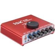 isk UK400 USB外置声卡 红色 网络K歌、DJ喊麦轻松搞定 免驱动、免调试