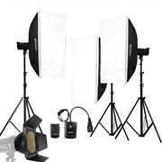 神牛 DE400W摄影棚摄影灯影室闪光灯三灯套装 柔光箱人像服装影棚设备器 套餐一