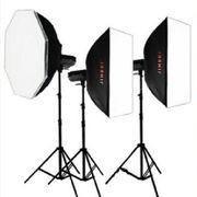 金贝 DPII升级版DPE-400W摄影灯摄影棚摄像灯影室闪光灯三灯套装人像服装影楼专业影像 套餐一