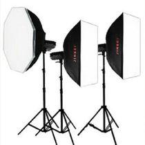 金贝 DPII升级版DPE-400W摄影灯摄影棚摄像灯影室闪光灯三灯套装人像服装影楼专业影像 套餐一产品图片主图