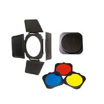 金贝 JB-A附件 四叶挡光板+蜂窝网+红黄蓝色片 55度标准灯罩专用产品图片主图
