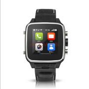 现代演绎 W808蓝牙手表手机防水双核四显全金属真皮表带智能穿戴设备买就送精美礼品 黑色