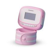 V.WO 儿童手表手机GPRS定位手环插卡腕表低辐射360度监护儿童卫士 粉红色