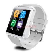 依斯卡 U-Watch U8智能手环蓝牙智能手表健康计步器防盗手机伴侣智能穿戴可通话多功能 白色