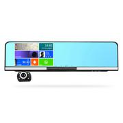 平行线 D11后视镜行车记录仪导航一体机双镜头高清5寸屏安卓GPS 单镜头16G内存+送监控线