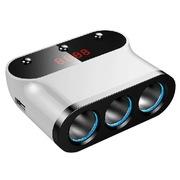 先科 点烟器 一分三 一拖三 电压检测 AY-T12 白色