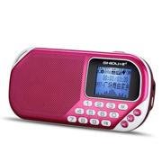十度 S228迷你音响便携式插卡收音机晨练外放小音箱mp3音乐播放器双音圈喇叭音质完美 绚丽紫