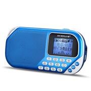 十度 S228迷你音响便携式插卡收音机晨练外放小音箱mp3音乐播放器双音圈喇叭音质完美 宝石蓝