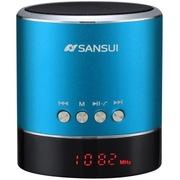 山水 A38s蓝牙小音箱 迷你音响 便携式插卡音箱 收音机手机音乐播放器 蓝色