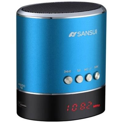 山水 A38s蓝牙小音箱 迷你音响 便携式插卡音箱 收音机手机音乐播放器 蓝色产品图片3
