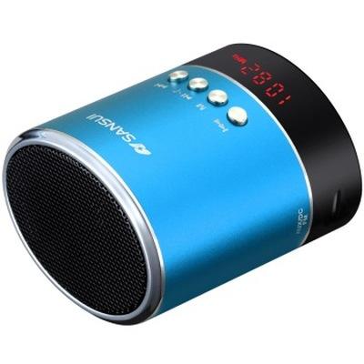 山水 A38s蓝牙小音箱 迷你音响 便携式插卡音箱 收音机手机音乐播放器 蓝色产品图片4