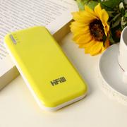 高蜚 超薄11200毫安双口 超薄移动电源 适用iphone5s三星s5/s4小米大容量充电宝通 黄色